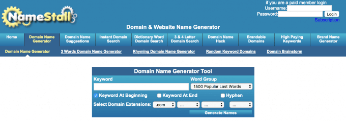 Top 15 Domain Name Generators - the Easy Way to the Perfect Domain Name