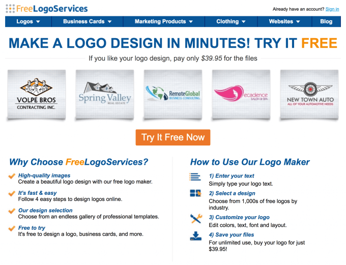freelogoservices logo maker