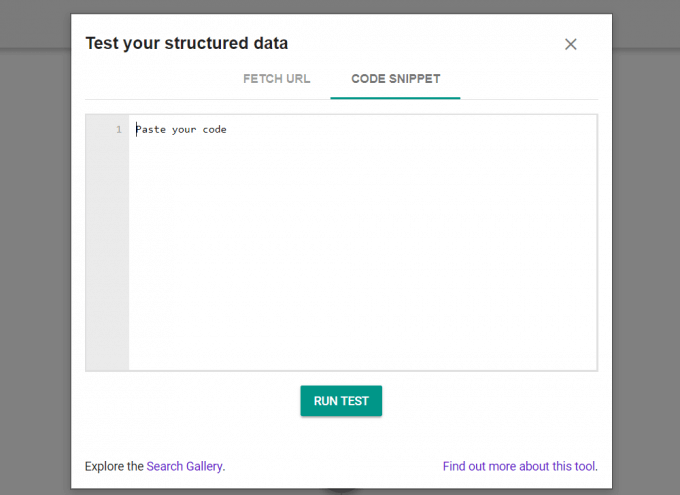 Googles Structured Data Testing Tool